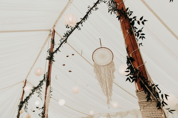 Hanging Lanterns and Dream Catchers
