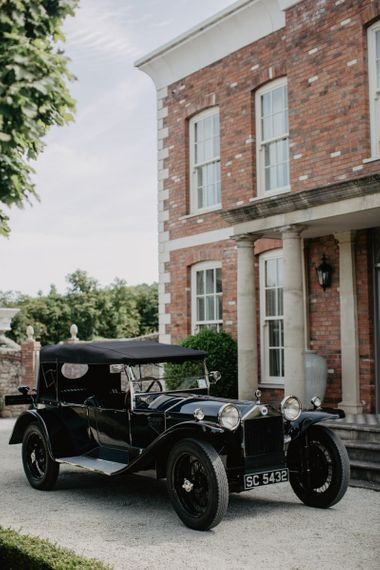 Vintage Wedding Car Outside Bride's Family Home The Hosted The Wedding