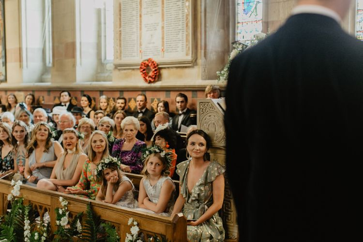 Guests Watch On During Church Ceremony In Ireland