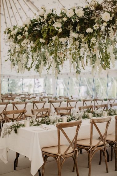 Beautiful Flower Installation In marquee