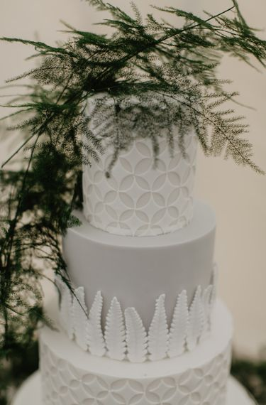 Close Up Of Wedding Cake Detail