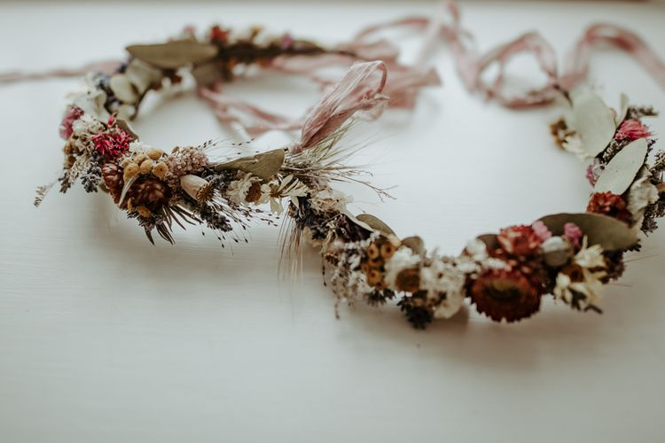 Dried flower crowns for flower girls