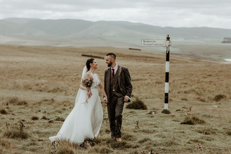 Lake District bride and groom portrait by Jo Greenfield Photography