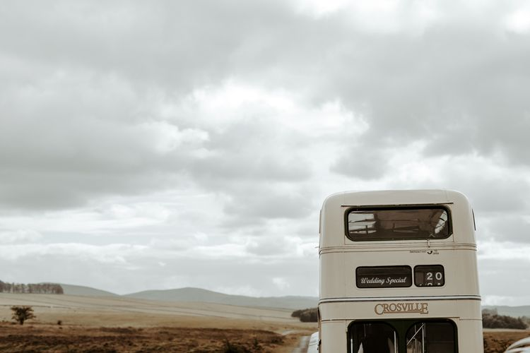 Wedding special, vintage, double decker bus for Eden Barn wedding
