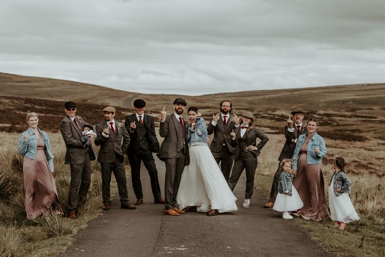 Socially distance wedding party portraits in the Lake District