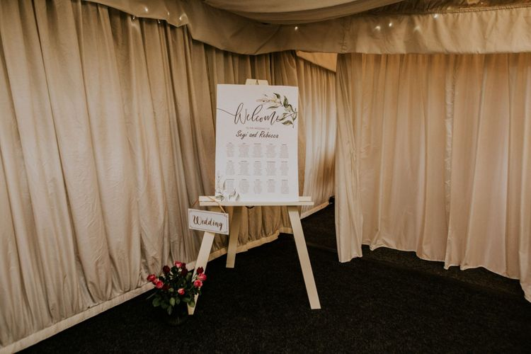 Wedding stationery and wooden wedding signs
