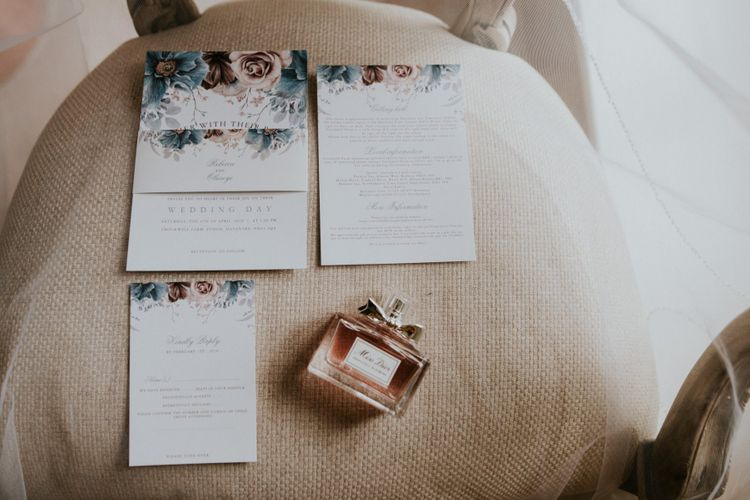 Beautiful floral wedding stationery