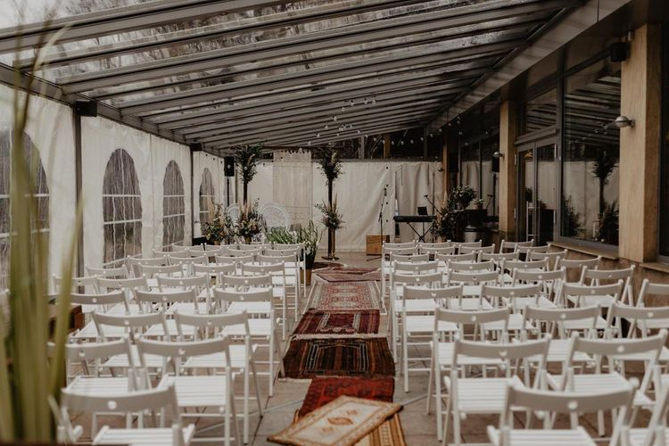 Wedding ceremony set up in Germany venue