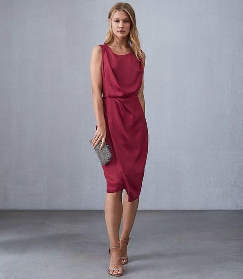 Raspberry Bridesmaids Dress From Reiss / The Karina Dress From Reiss