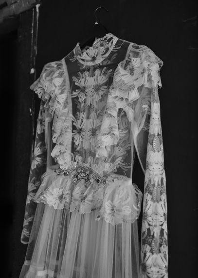 KATYA KATYA Lace High Neck Wedding Dress