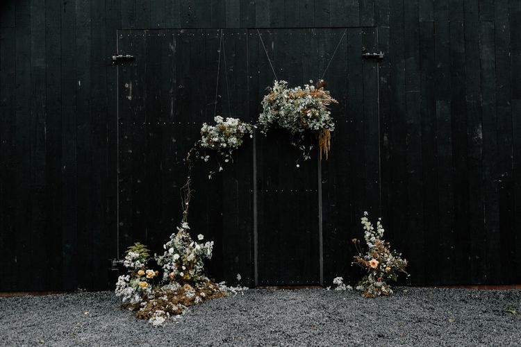 Dried Wedding Flower Altar at The Giraffe Shed