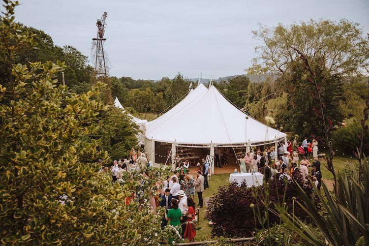 Back Garden Tent Wedding in Devon