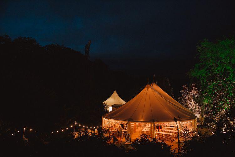 Lighting on Tent Wedding Reception