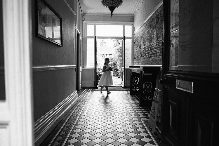 Flower Girl | Peach Wedding at Swanton Morley House and Gardens in Norfolk |  Jason Mark Harris Photography | Together we Roam Films