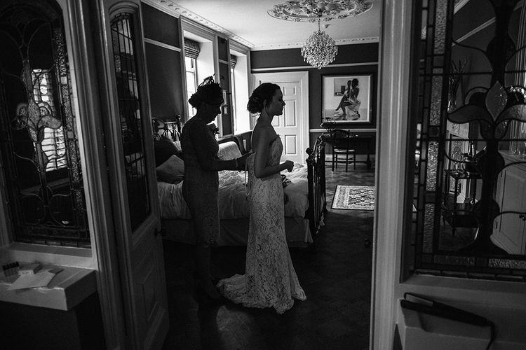 Wedding Morning Bridal Preparations | Peach Wedding at Swanton Morley House and Gardens in Norfolk |  Jason Mark Harris Photography | Together we Roam Films