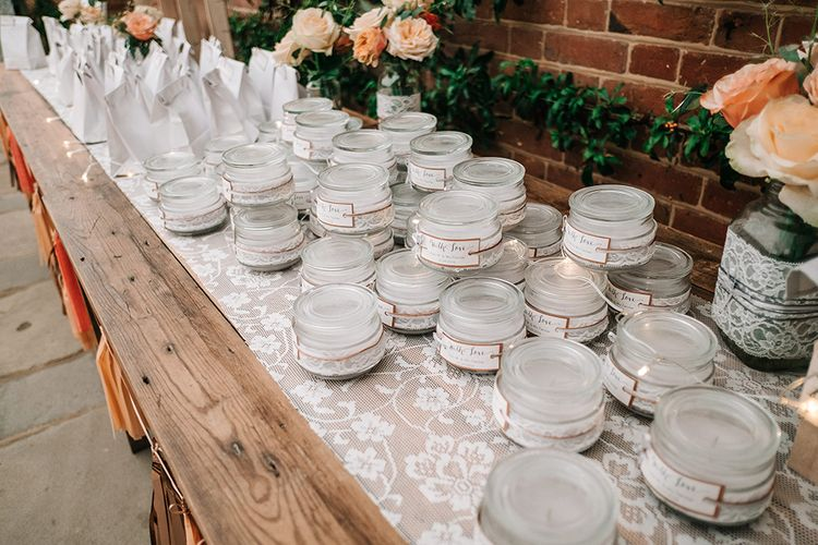 Wedding Favours | Peach Wedding at Swanton Morley House and Gardens in Norfolk |  Jason Mark Harris Photography | Together we Roam Films