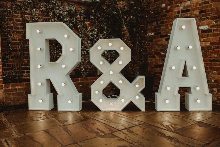Giant White Light Up Letters Wedding Decor