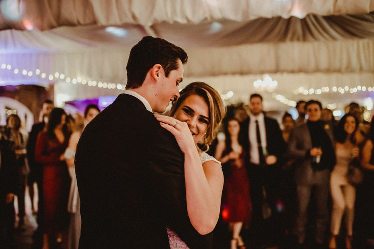 First Dance with Bride in Tuxedo and Groom in Lace Wedding Dress