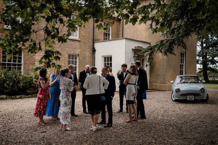 Wedding guests at Aswarby Rectory