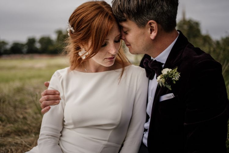 Intimate bride and groom portrait by Magda K Photography