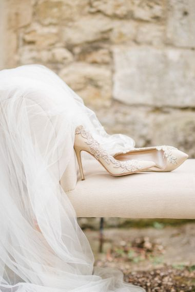 Emmy London Wedding Shoes with Lace Detail
