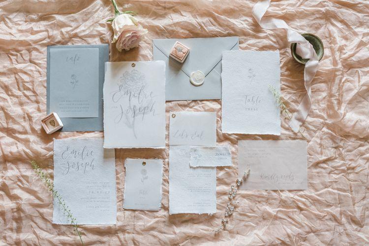 Romantic Loupaper Wedding Stationery Suite
