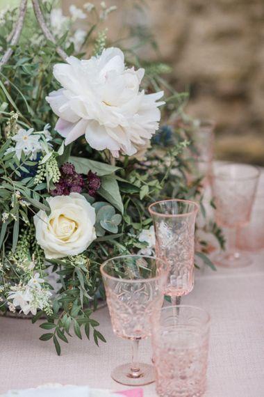 Ornate Pink Goblets