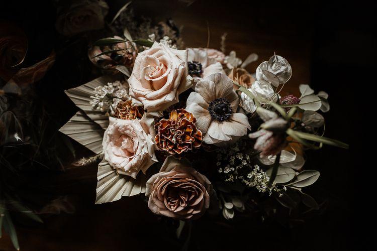 复古粉红花束