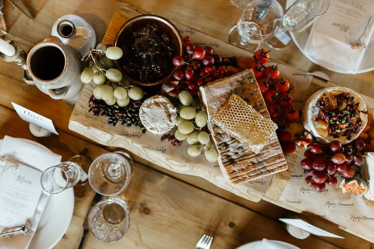 Grazing Table with Cheese, Crackers and Chutney's