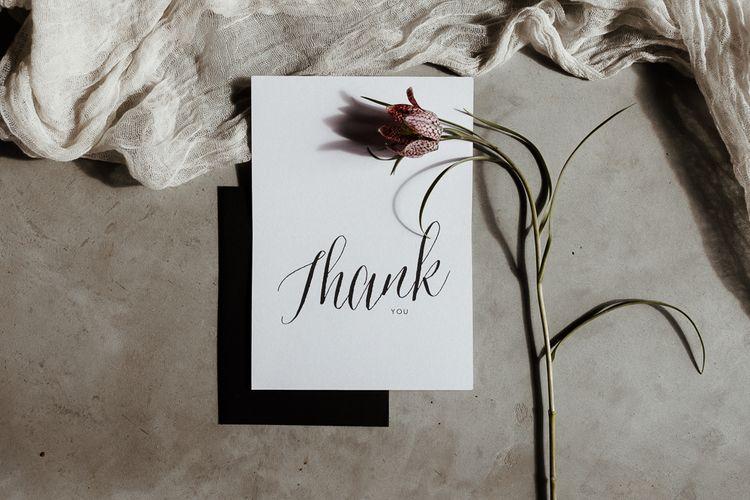 Monochrome  Thank You Card