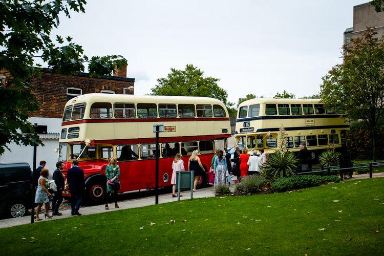 Vintage Wedding Buses for Wedding Guests