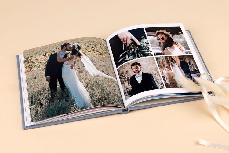 Hardcover Wedding Photo Album Book by Rosemood