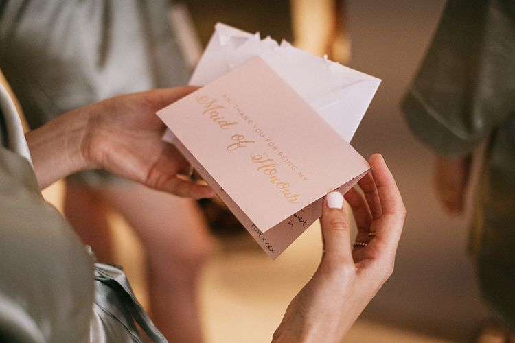 Maid Of Honour wedding stationery and gift