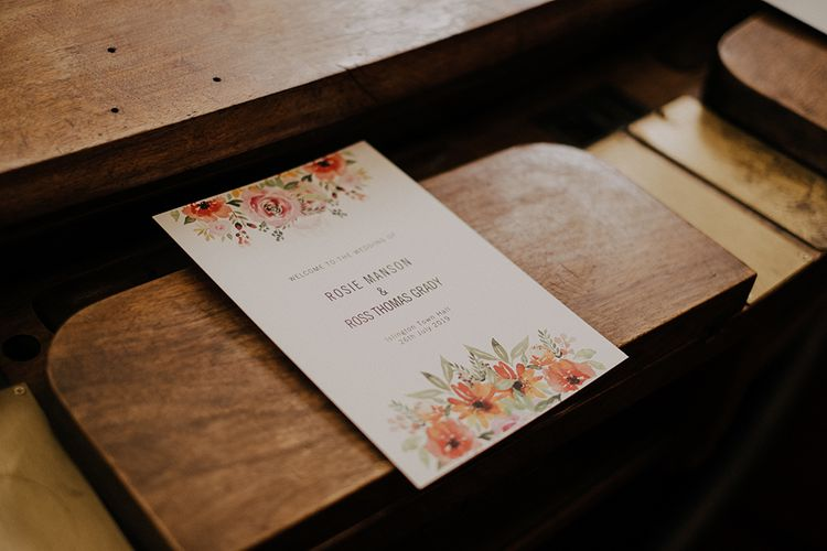Wedding stationery for Islington town hall ceremony
