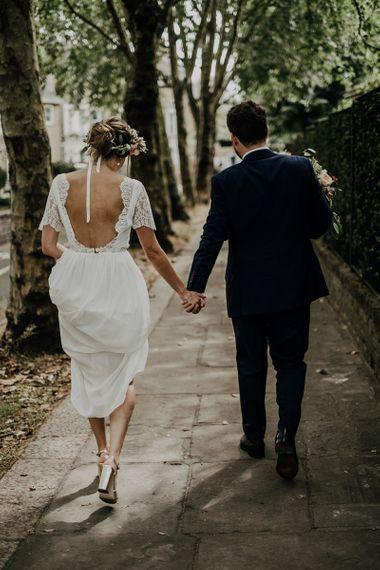 Open back Luna Bride wedding dress for Islington Town Hall wedding