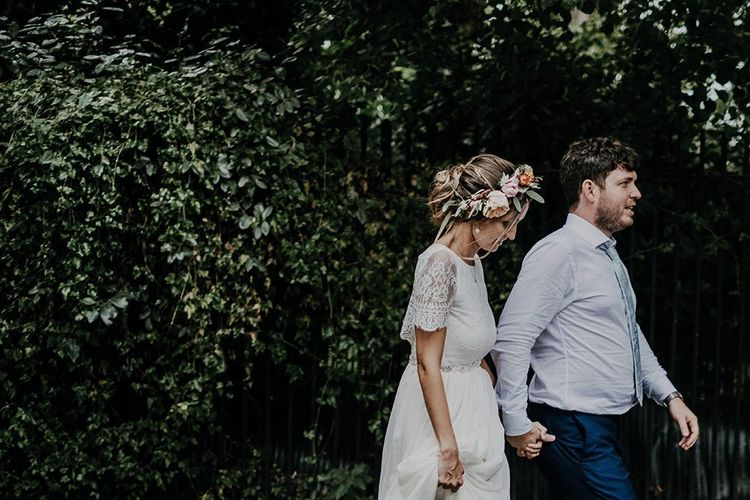Bride and Groom for relaxed Islington town hall wedding