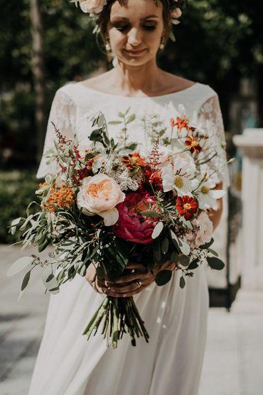 Stunning bridal bouquet for Islington town hall wedding
