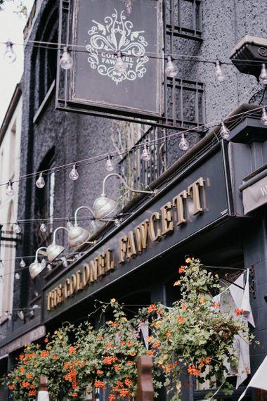 The Colonel Fawcett pub reception venue in London