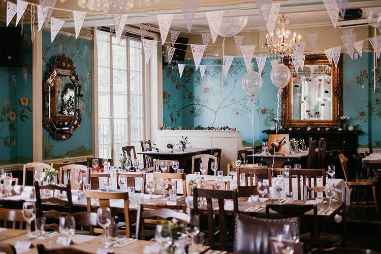 The Colonel Fawcett pub reception venue in London decor