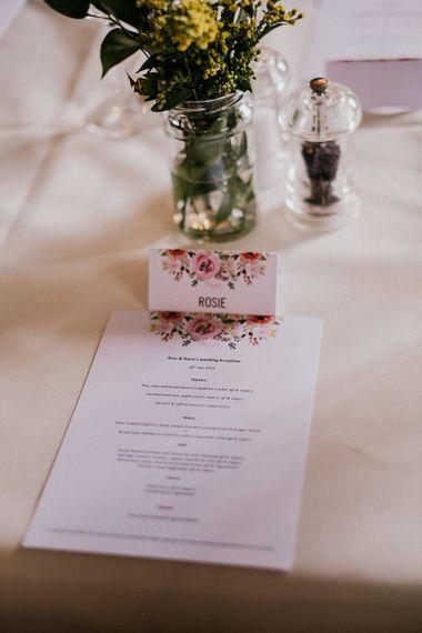 Wedding table place setting for Islington town hall wedding