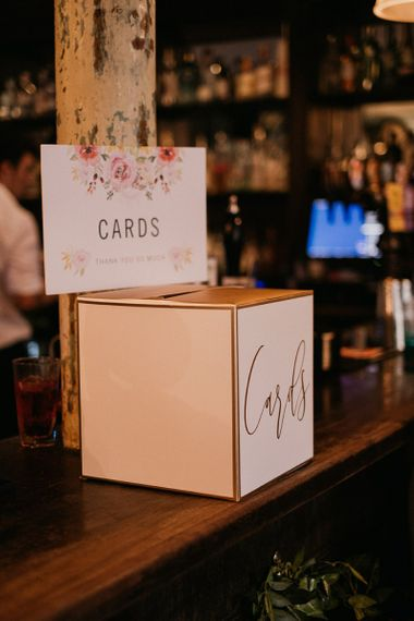 Wedding card box and sign