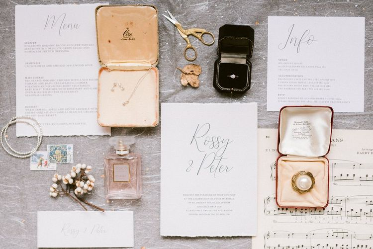 Wedding accessories and wedding stationery