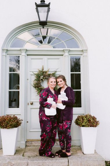 Bride with daughter at Hillmount House Christmas wedding