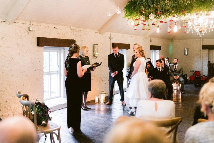 Intimate Christmas wedding ceremony in Northern Ireland wedding venue