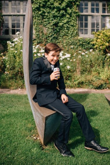 Young Wedding Guest in Suit