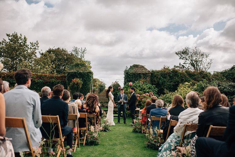 Outdoor Wedding Ceremony at Ash Barton in North Devon