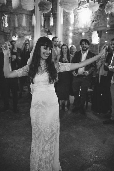 Bride in Lace Catherine Deane Wedding Dress