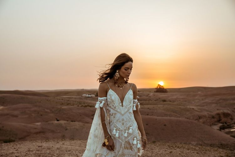 Mira Dress By Rue De Seine // The Wild Heart Collection From Rue De Seine // Stylish Bohemian Bridal Wear From Rue De Seine // Images By Madly Studio