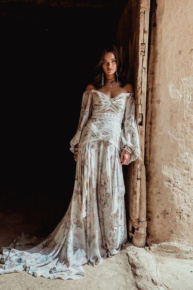 Nahla Dress By Rue De Seine // The Wild Heart Collection From Rue De Seine // Stylish Bohemian Bridal Wear From Rue De Seine // Images By Madly Studio