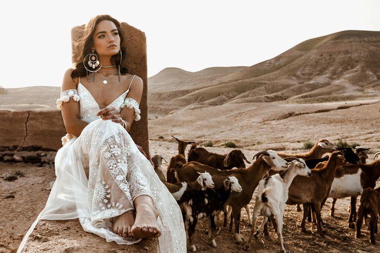 Soraya Dress By Rue De Seine // The Wild Heart Collection From Rue De Seine // Stylish Bohemian Bridal Wear From Rue De Seine // Images By Madly Studio